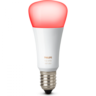 Hue white and color E27 single bulb